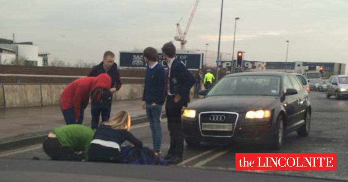 Woman hit by car on Lincoln university bridge