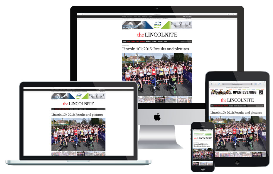 The Lincolnite has a responsive website that adapts to the screens of computers, laptops, smartphones and tablets.