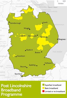 Lincolnshire broadband deployment map