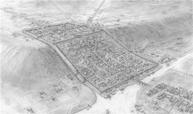 Lincoln colony under the Romans. Photo: David Vale, Lincoln FLARE