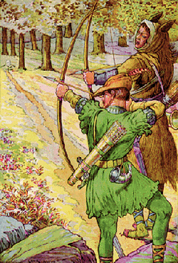 Lincoln Green was the popular shade for fabric worn by Robin and his merry men.