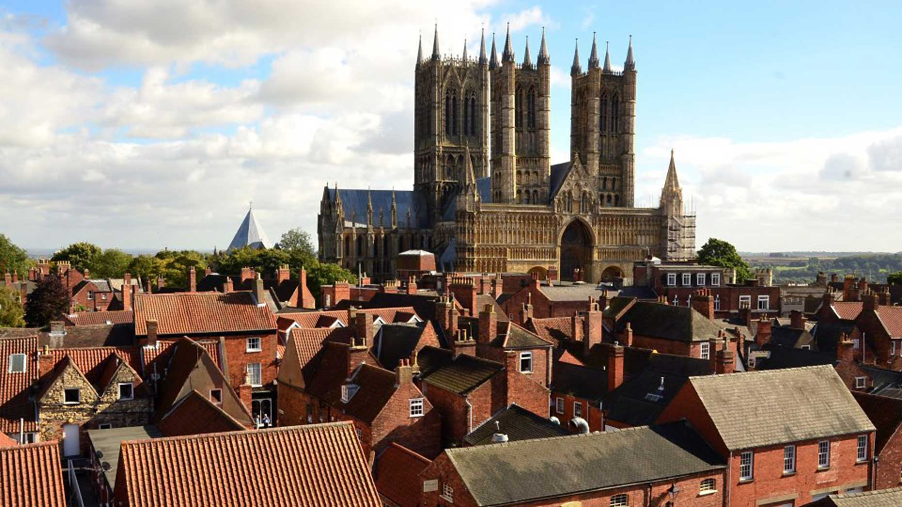Lincoln Cathedral basking in the sunshine. Photo: Steve Smailes for Lincolnshire Reporter