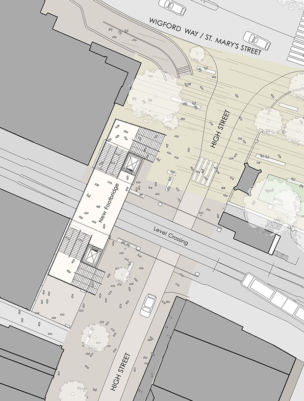 Plans of the High Street level crossing.