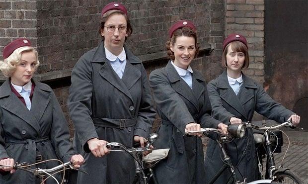 Miranda Hart (centre) stars in Call the Midwife. Photo: BBC