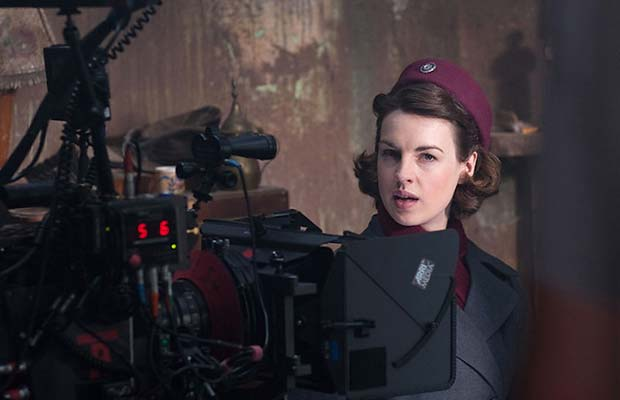 Jessica Raine on the set of Call the Midwife. Photo: BBC