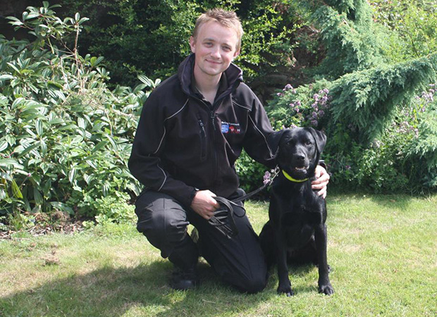 Indie the sniffer dog, a key member of the team. Photo: Lincolnshire Trading Standards
