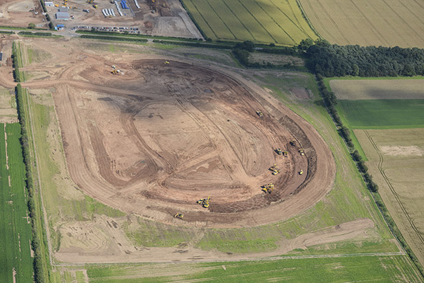 The scale of the new reservoir as work began in 2012. Photo: Anglian Water