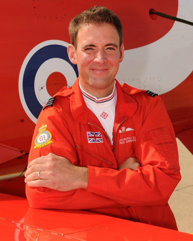 Flt Lt Stu Campbell, new Red Arrows pilot joining the team for the 2014 season. Photo: Cpl Graham Taylor