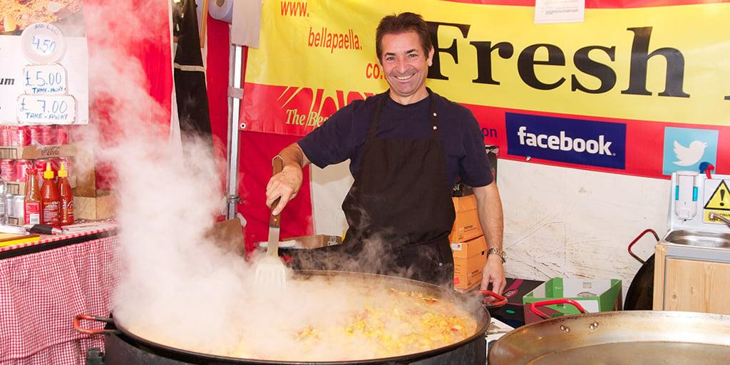 Fresh Paella at the International Food Festival