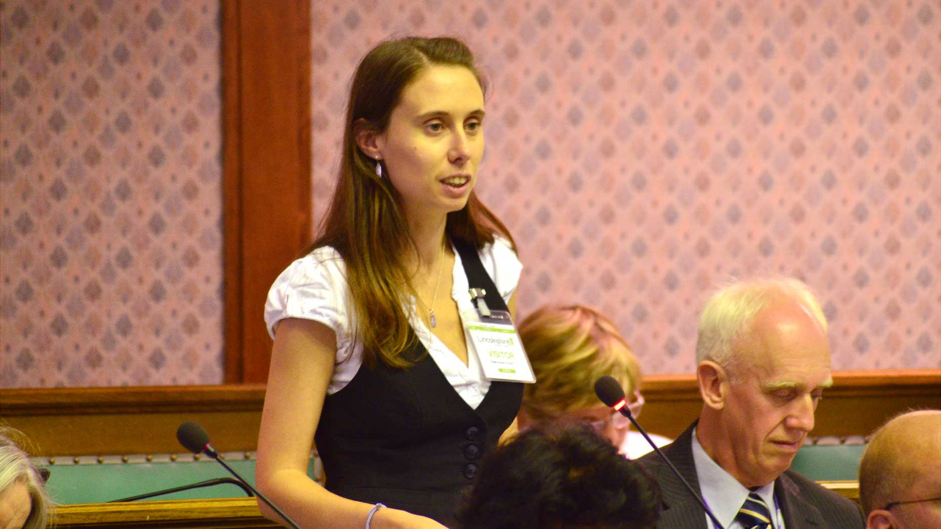 Pivotal SLL campaigner Leah Warriner-Wood held a speech during the council meeting. Photo: Steve Smailes for The Lincolnite