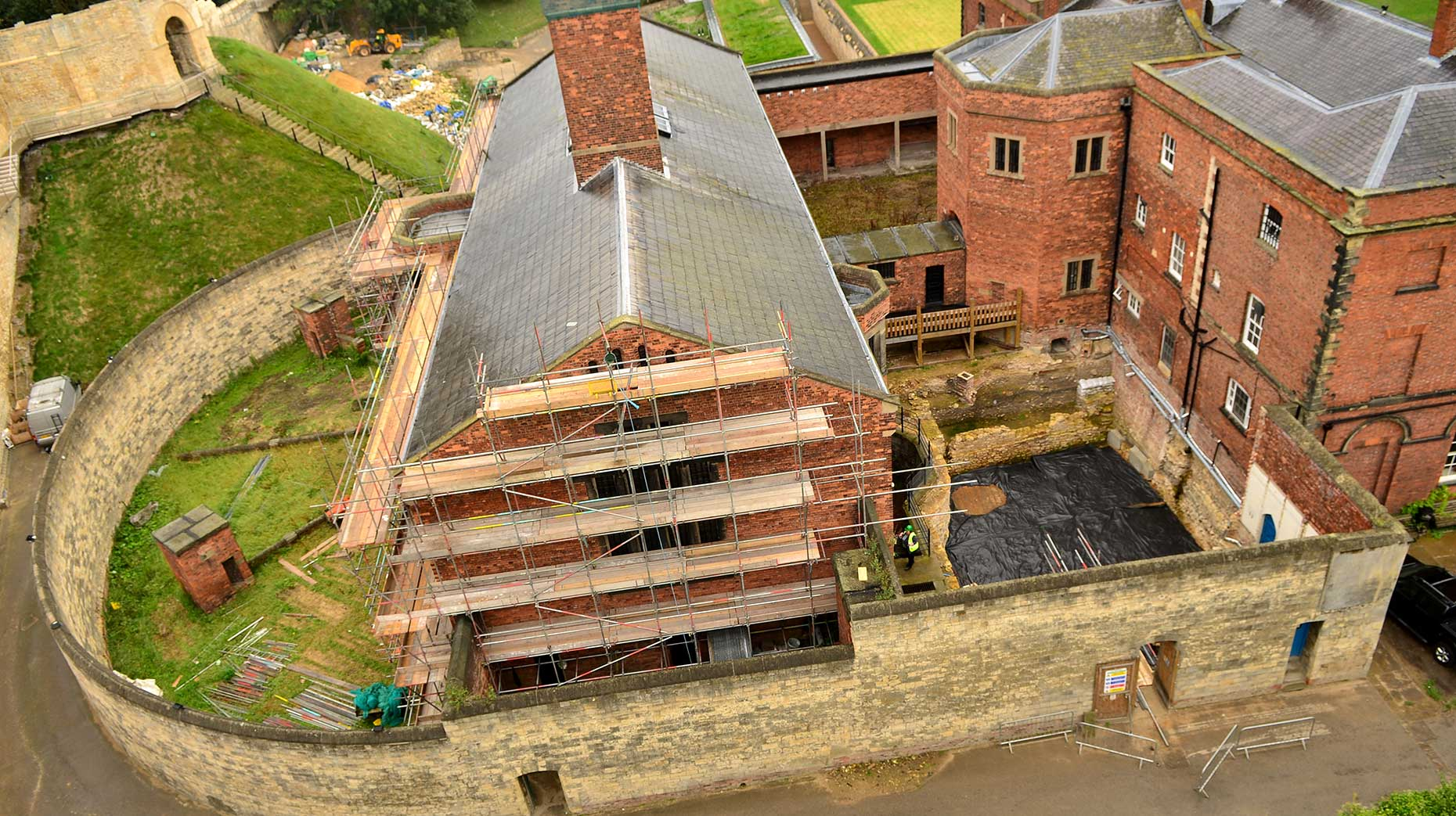 View of the works at Lincoln Castle. Photo: Steve Smailes for The Lincolnite