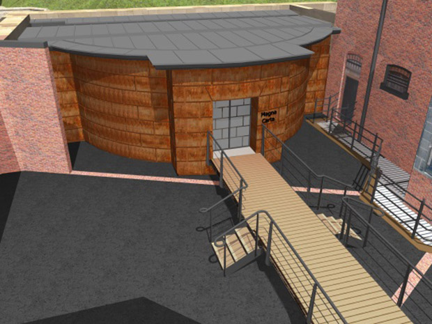 3D image of the work on the prison.
