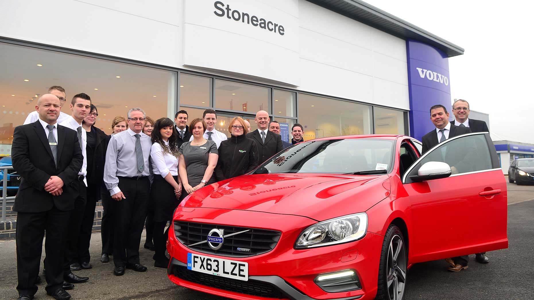 Lincoln stoneacre volvo dealership expands business for Stone acre