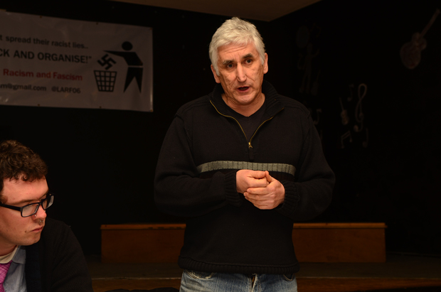 Activist Steve Score, from Leicester, spoke out on the need to react to EAP. Photo: Steve Smailes for The Lincolnite