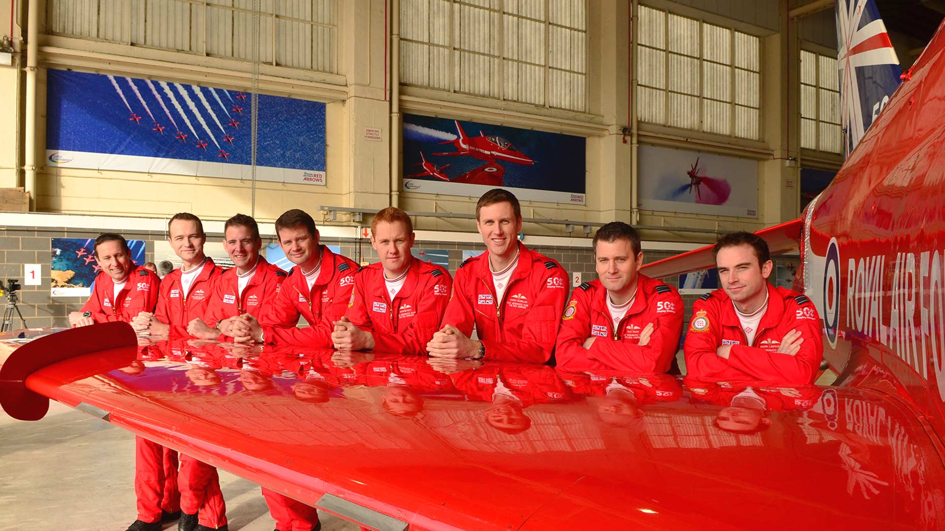 The RAF Reda Arrows team celebrating their 50th season in 2014. Photo: Steve Smailes for The Lincolnite