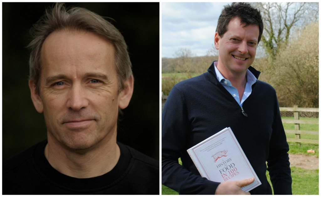 Special guests at this year's festival Jasper Fforde and William Sitwell. Photo: Mari Roberts
