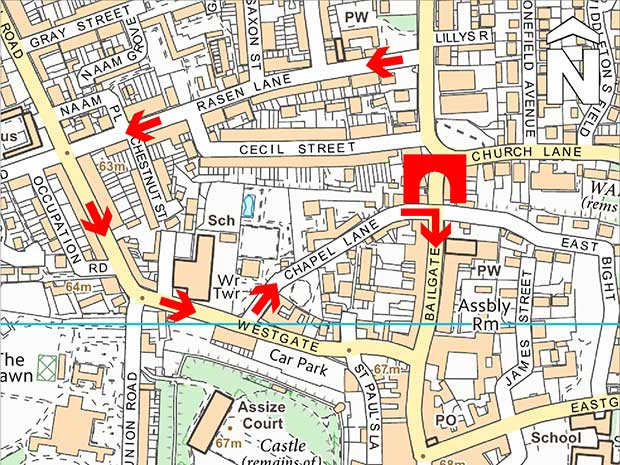 Map of diversion. Photo: City of Lincoln Council