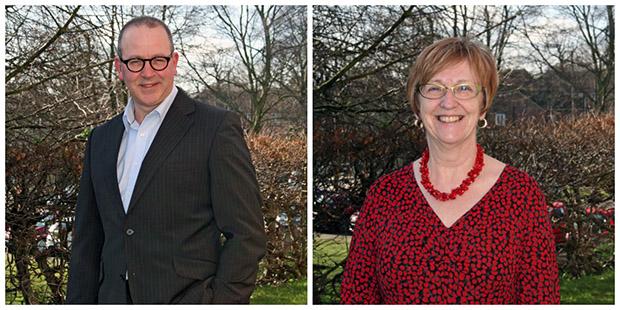 Professor Steve Barnett and Kate Truscott.