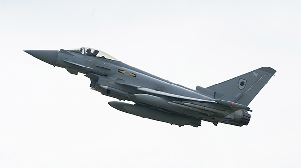 Four Royal Air Force Typhoon aircraft deployed to take part in the NATO Baltic Air Policing mission over Estonia, Latvia and Lithuania. Photo: MoD
