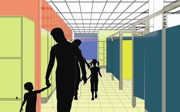 Improved changing rooms are high on the council's centre redevelopment list. Photo: NKDC