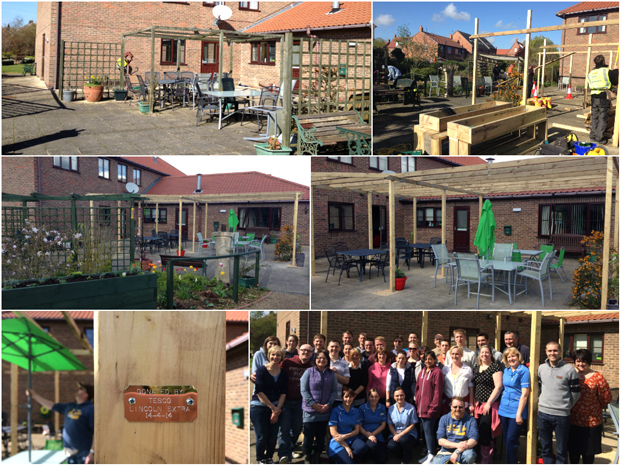 The new garden at the hospice will provide a communal area for visitors to enjoy.