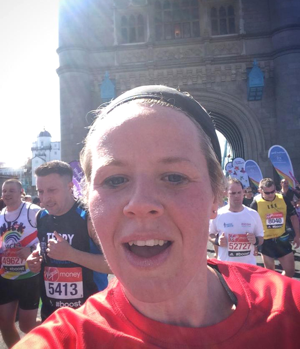 Michelle ran the London Marathon for Ataxia UK.