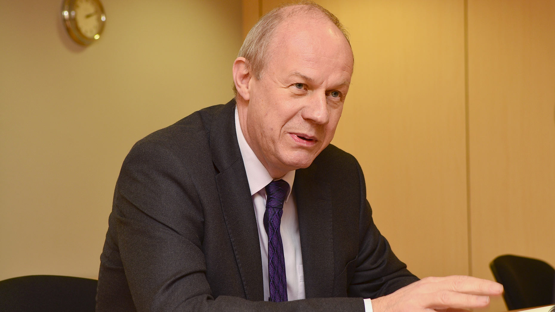 Minister of State for Police and Criminal Justice Damian Green speaking with The Lincolnite. Photo: Steve Smailes for The Lincolnite