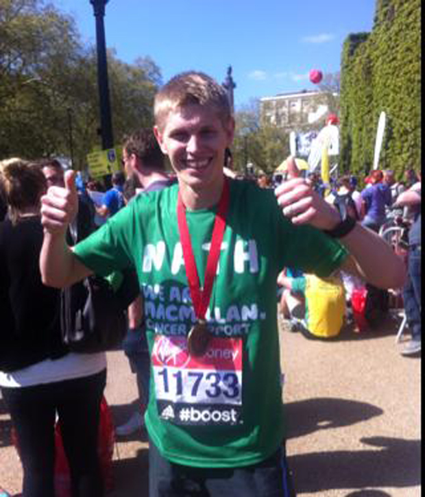 Nathan Addlesee completed the London Marathon on April 13.