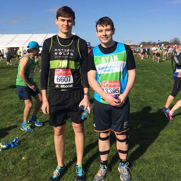 Ryan Doyle took part in the 2014 London Marathon.