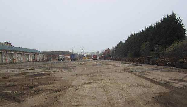 Where the new centre will be positioned on the site.