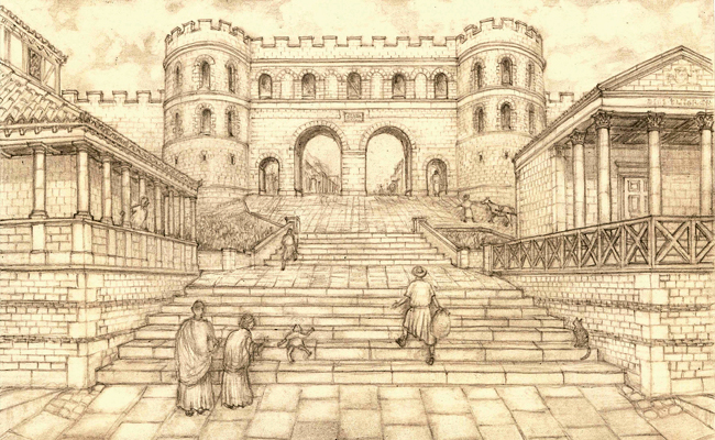 The Roman trail features information and views of how Lincoln looked 1,600 years ago.