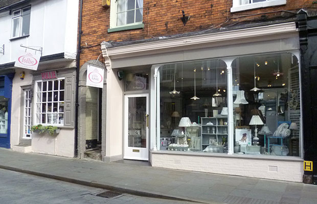 Follie and Follie Home are located on Bailgate, Lincoln.