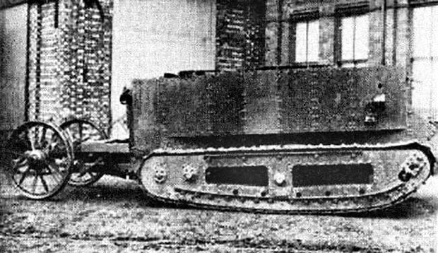 Little Willie, an early design of the tank by William Tritton in Lincoln.