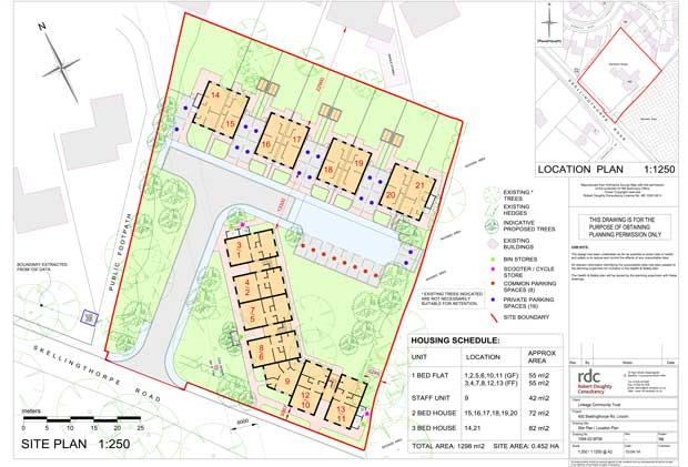 Sampson House Development Location Plan. File: CLC