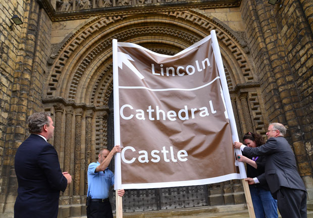 A mockup of the signs that will go along the A1. Photo: Steve Smailes for The Lincolnite
