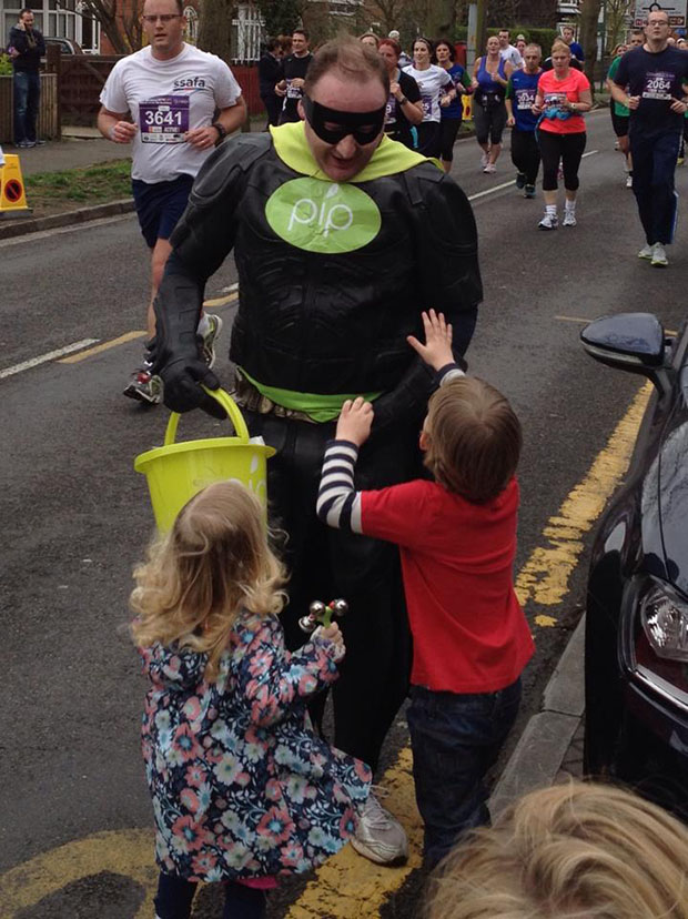 Michael as Pipman in the Lincoln 10k.