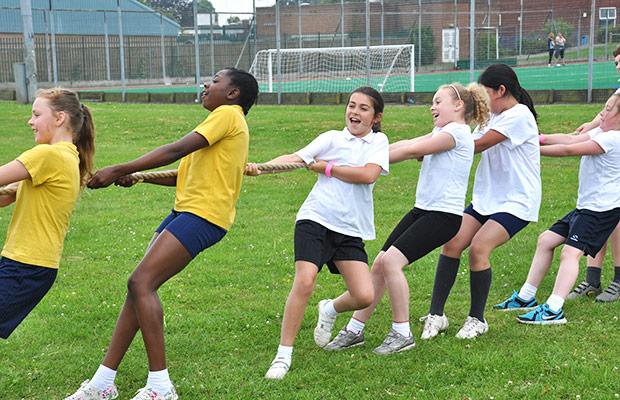 Participating students got to try out new age curling, tag rugby, tug of war and many other fun sports.