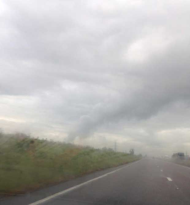 The funnel clouds captured by Kelly Evans near Newark on June 4