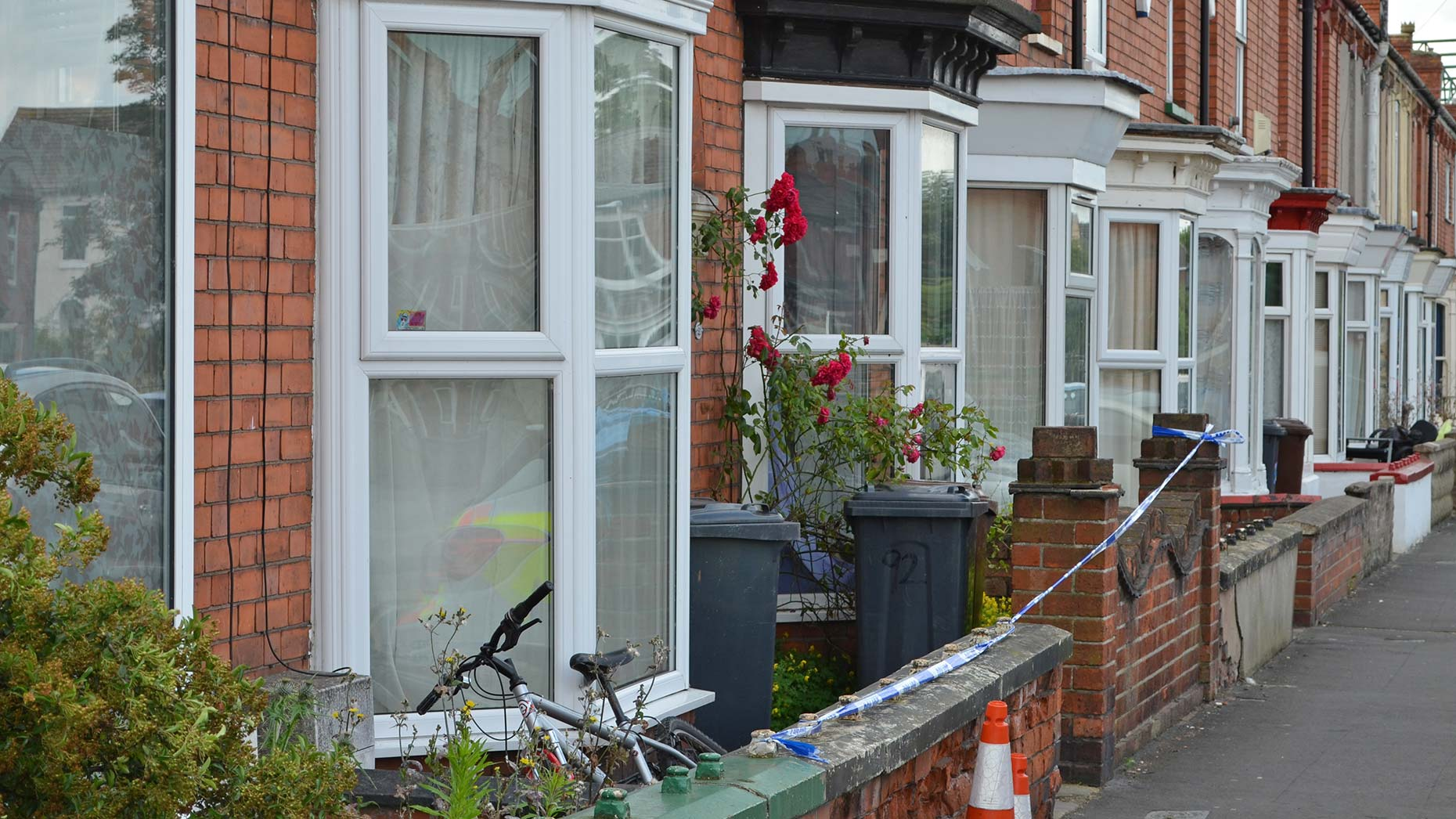 The home on Sincil Bank where the body was found.