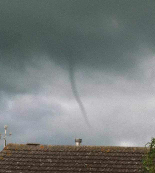 The June 4 tornado spotted in Welton, near Lincoln, by Shelly Wilkinson