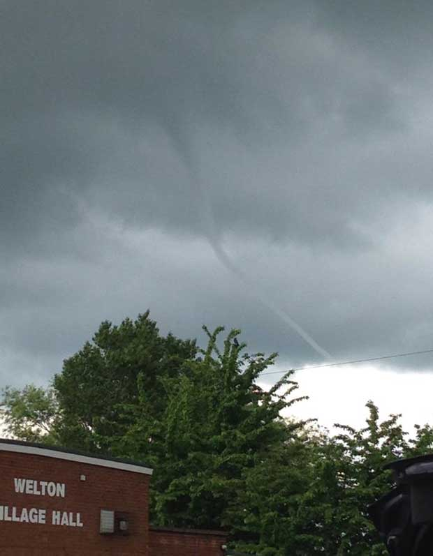 The tornado above Welton spotted by Charlotte Batty