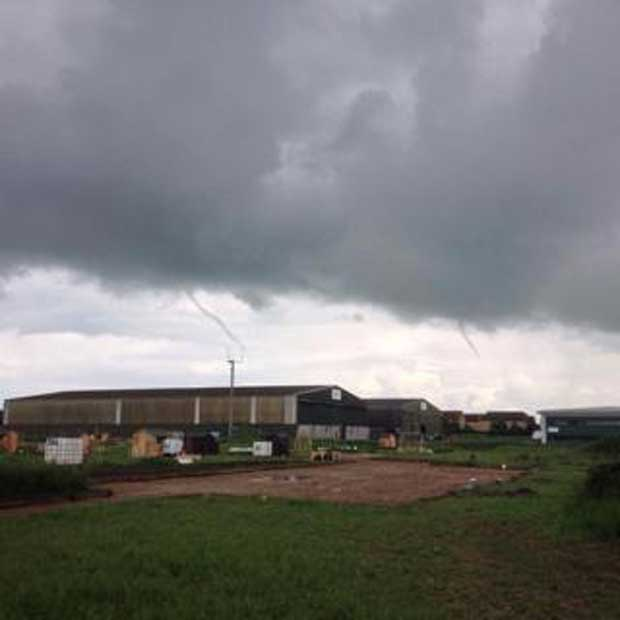 Three funnel clouds taken at Witham St Hughs Allotments by Peter Rothwell Syme