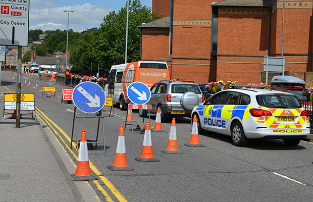 Motorists will be met by temporary traffic lights on the Wigford Way/Brayford Way junction.