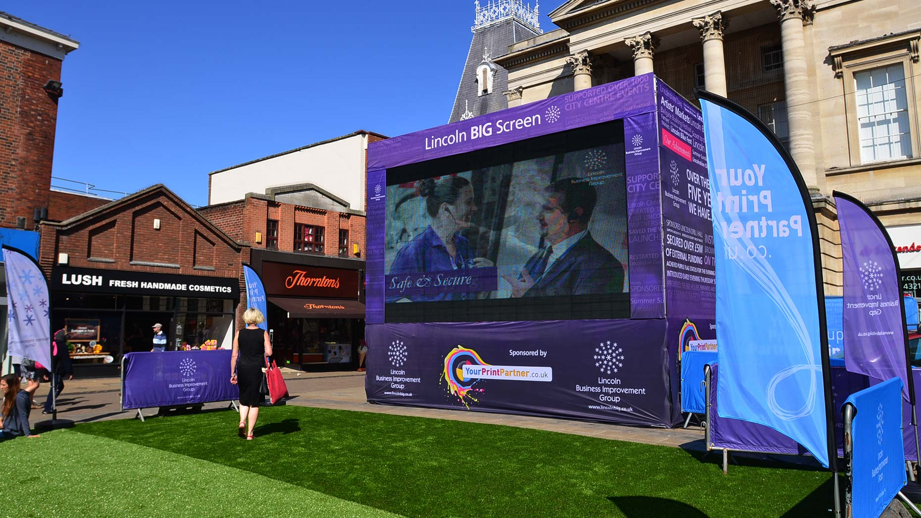 The Commonwealth Live Screen in Cornhill, Lincoln. Photo: Steve Smailes for The Lincolnite