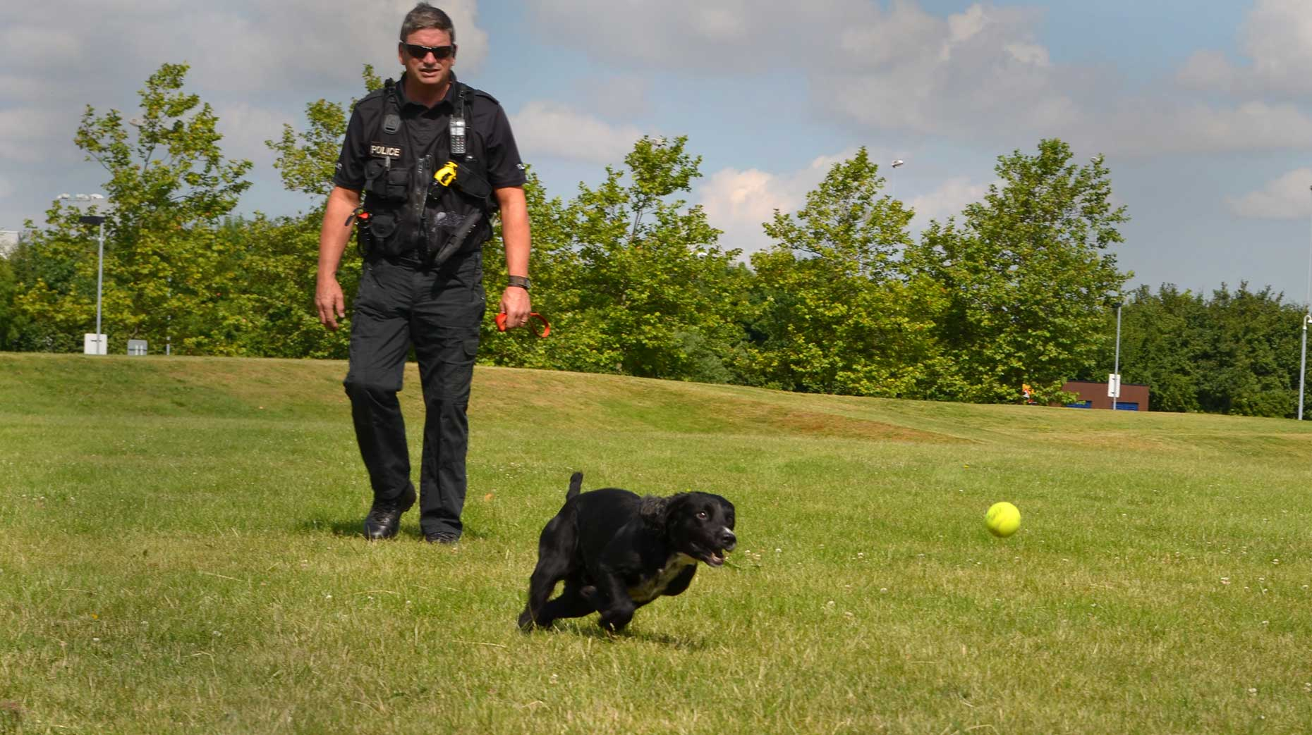 Police Dogs Showcase Obedience At Lincoln Canine