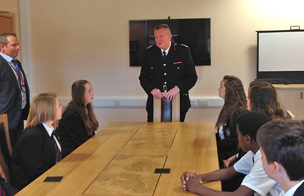 Dave Ramscar, Chief Fire Officer for Lincolnshire Fire and Rescue demonstrated how the team plans for emergencies.