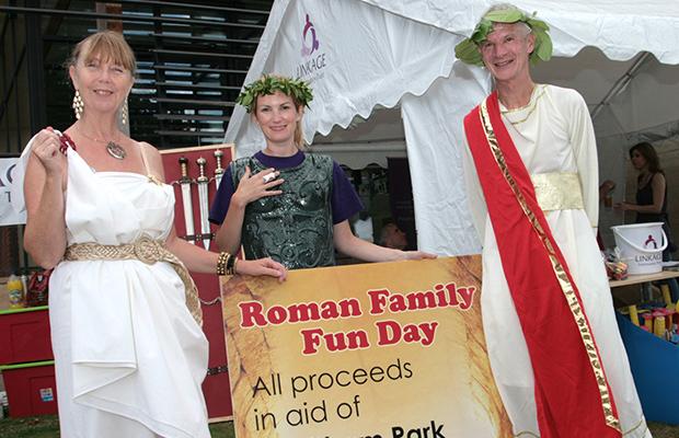 Organisers Barbara Moulson, Louise Cotton and Philip Barnatt from Linkage. Photo: Tony Barker