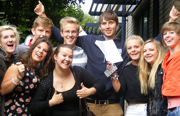 Students from Lincoln Minster School celebrated record A Level and AS level results.