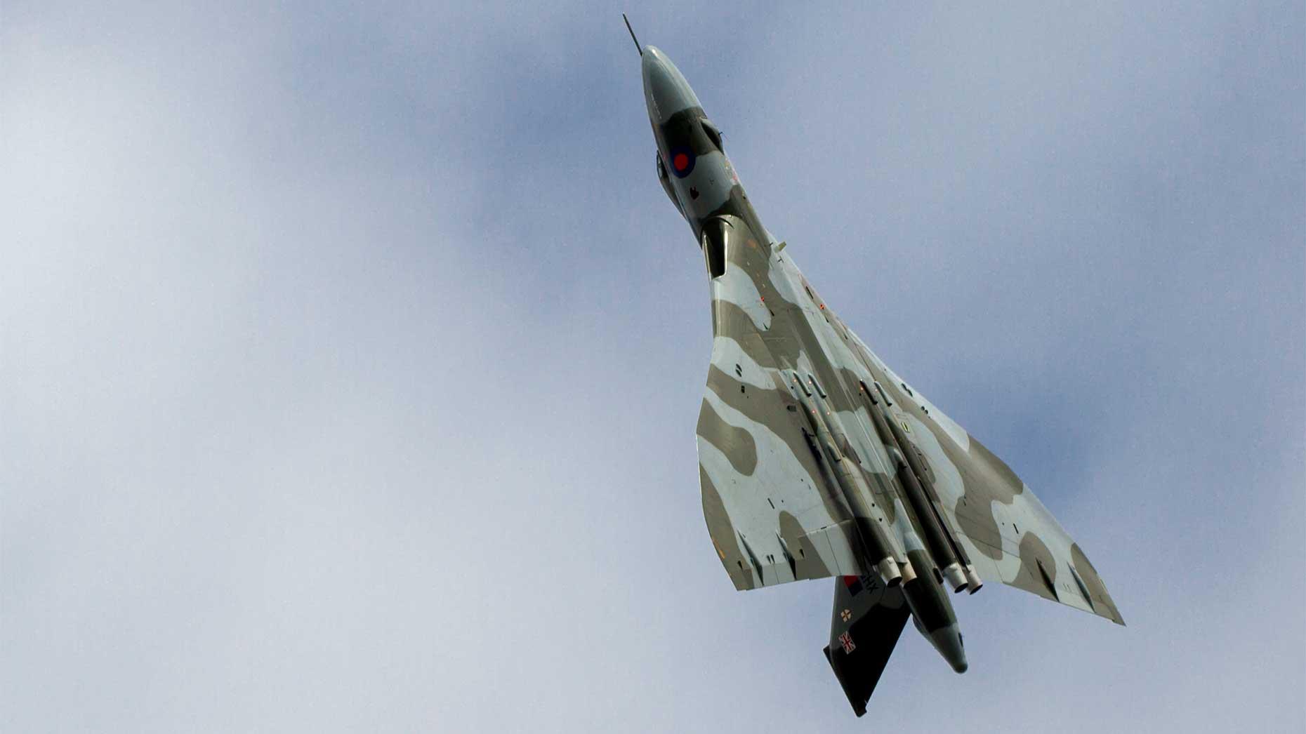 The Vulcan over RAF Scampton. Photo: Sean Strange