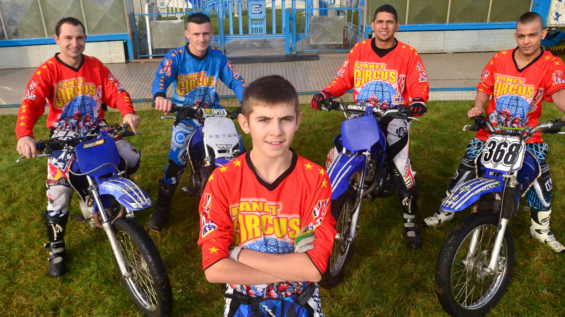Peter Pavlov and his trusted team of bikers at Planet Circus. Photo: Steve Smailes for The Lincolnite